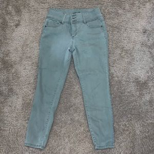 D jeans green size 6